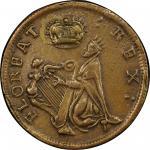 St. Patrick Farthing. Martin 1c.13-Da.1. Copper. Rarity-6+. AU-53 (PCGS).