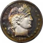 1909 Barber Half Dollar. Proof-68 Cameo (PCGS).