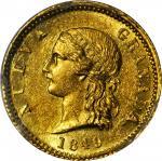 COLOMBIA. 1849 2 Pesos. Bogotá mint. Restrepo 203.2. MS-62 (PCGS).