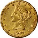 1897-O Liberty Head Eagle. Winter-3. MS-61 (NGC).