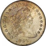 1796 Draped Bust Silver Dollar. Bowers Borckardt-61, Bolender-4. Rarity-3. Small Date, Large Letters