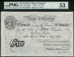 Bank of England, B.G. Catterns, £5, Hull 1 January 1931, serial number 446U 00639, black and white,