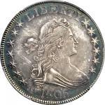 1806 Draped Bust Half Dollar. O-116, T-20. Rarity-3. Pointed 6, Stem Through Claw. AU-53 (PCGS).