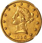1856-S Liberty Head Eagle. AU-53 (NGC). CAC.