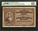 1912年德国东非500卢比 PMG Choice Unc 63