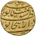 MUGHAL: Aurangzeb, 1658-1707, AV mohur 4010。99g41, Bijapur, AH1115 year 47, KM-315。15, with mint epi
