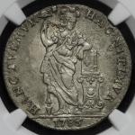 "NETHERLANDS EAST INDIES Utrecht オランダ领东インド・ユトレヒト Gulden 1786 NGC-AU Details""Environmental Damage"" 海难品"
