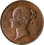 GREAT BRITAIN. Penny, 1855/4. London Mint. Victoria. PCGS MS-64+ Brown Gold Shield.