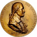 "1799 (ca. 1922) ""Vermeil Mint"" Medal. Bronze. 76.3 mm. By George T. Morgan. Baker-174LF. About Uncir"