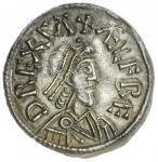 876年韦塞克斯阿尔弗雷德大帝便士 极美 Alfred the Great Penny