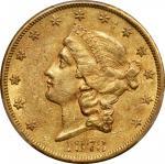1873-CC自由帽双鹰 PCGS AU 53