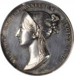 GREAT BRITAIN. Victoria Coronation Silver Medal, 1838. London Mint. PCGS SPECIMEN-62 Gold Shield.