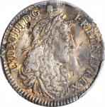 1670-A 5 Sols. Paris Mint. Martin 2-A, Lecompte-186, Hodder-3, W-11605. Rarity-4 (for the type). EF