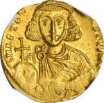 ANASTASIUS II, 713-715. AV Solidus (4.44 gms), Constantinople Mint, 7th Officina. NGC MS, Strike: 4/