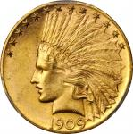 1909-S Indian Eagle. MS-64 (PCGS). CAC.