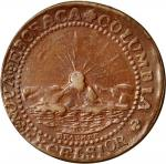 1787 (ca. 1860s?) Brasher Doubloon electrotype. EB on Wing. Copper shells over lead.