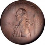 1889 Centennial of the Inauguration of Washington Medal. Bronze cast. 113mm. By Augustus Saint-Gaude