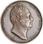 GREAT BRITAIN. William IV & Adelaide Coronation Silver Medal, 1831. London Mint. PCGS SPECIMEN-63 Go