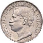 Savoy Coins;Vittorio Emanuele III (1900-1946) 2 Lire 1911 Cinquantenario - Nomisma 1162 AG Graffiett