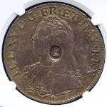 GREAT BRITAIN George III ジョージ3世(1760~1820) Dollar ND(1797)  NGC-VF DetailsSurface Hairlines ヘアライン F+