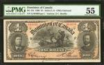 CANADA. Dominion of Canada. 1 Dollar, 1898. P-DC-13c. PMG About Uncirculated 55.