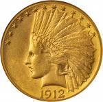 1912-S Indian Eagle. AU-58 (NGC).
