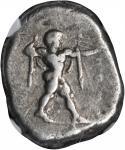 ITALY. Lucania. Poseidonia. AR Stater (7.98 gms), ca. 470-420 B.C.