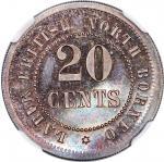 British North Borneo token coinage, Borneo Labuk Tobacco Company Limited, 20 cents undated (1900-24)