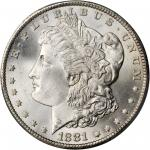 1881-CC Morgan Silver Dollar. MS-67 (PCGS).