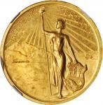 PERU. Gold Centennial of Independence Medal, 1921. NGC MS-61.