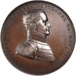 1835 Colonel George Croghan Medal. Bronze. 65 mm. Julian MI-12. Mint State.