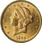 1895 Liberty Head Double Eagle. MS-62 (PCGS).
