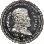 1885 President Ulysses S. Grant Memorial Medal. White Metal. 63 mm. By George T. Morgan. MS-62 DPL (