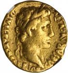 AUGUSTUS, 27 B.C.- A.D. 14. AV Aureus (7.87 gms), Lugdunum Mint, ca. 2 B.C.-A.D. 14. NGC FINE, Strik