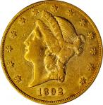 1892-CC Liberty Head Double Eagle. EF-45 (PCGS).