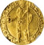 TRANSYLVANIA. Ducat, 1593. Baia Mare (Nagybánya) Mint. Sigismund Bathory. NGC MS-63.