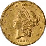 1856-S Liberty Head Double Eagle. MS-60 (PCGS).