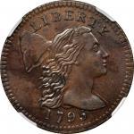 1795 Liberty Cap Cent. S-76B. Rarity-1. Plain Edge. MS-61 BN (NGC).
