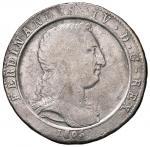 Italian coins;NAPOLI Ferdinando IV (1799-1805) Mezza piastra 1805 - Magliocca 393 AG (g 12.23) RR Fa
