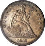 1842 Liberty Seated Silver Dollar. OC-5. Rarity-5-. Unc Details--Cleaned (PCGS).