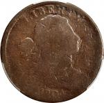 1804 Draped Bust Cent. S-266, the only known dies. Rarity-2. AG-3 (PCGS).