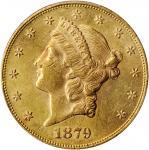 1879 Liberty Head Double Eagle. MS-60 (PCGS).