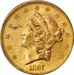 1857 Liberty Head Double Eagle. MS-61 (PCGS).