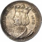 1893 Isabella Quarter. MS-63 (PCGS).