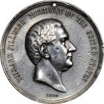 1850 Millard Fillmore Indian Peace Medal. Large Size. Silver. 75.86 mm. 2360.1 grains. Julian IP-30.