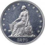 1870 Pattern Half Dollar. Judd-937, Pollock-1044. Rarity-7+. Aluminum. Reeded Edge. Proof-65 Cameo (