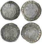 Charles I (1625-49), Halfcrowns (2), group 2a, 12.22g, m.m. rose, carols d g mag br fr et hib rex, k