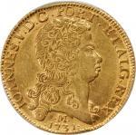BRAZIL. 12,800 Reis, 1731-M. Joao V (1706-50). PCGS AU-58 Secure Holder.