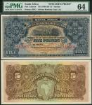 African Banking Corporation Ltd., Natal issue, archival specimen £5, ND (1900-20), serial number ran