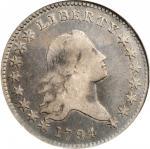 1794 Flowing Hair Half Dollar. O-104, T-11. Rarity-5. VF-20 (NGC). OH.